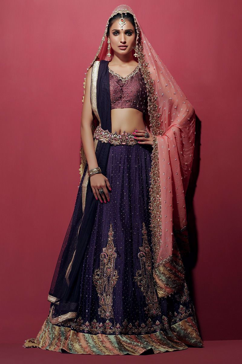 Picture of Plum lehnga choli