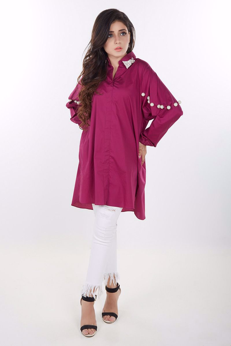 Picture of Magenta cotton shirt