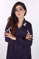 Picture of Navy blue cotton shirt