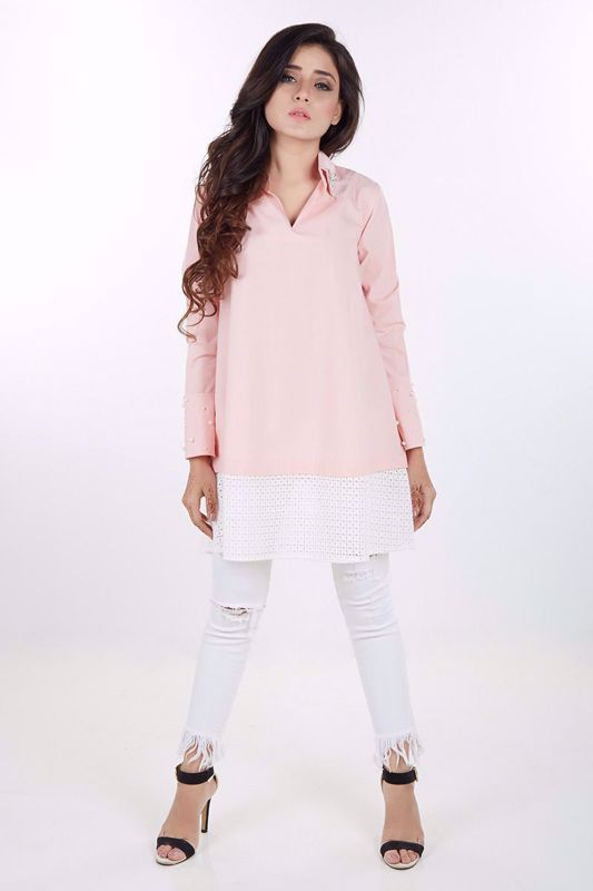 Picture of Peach cotton shirt