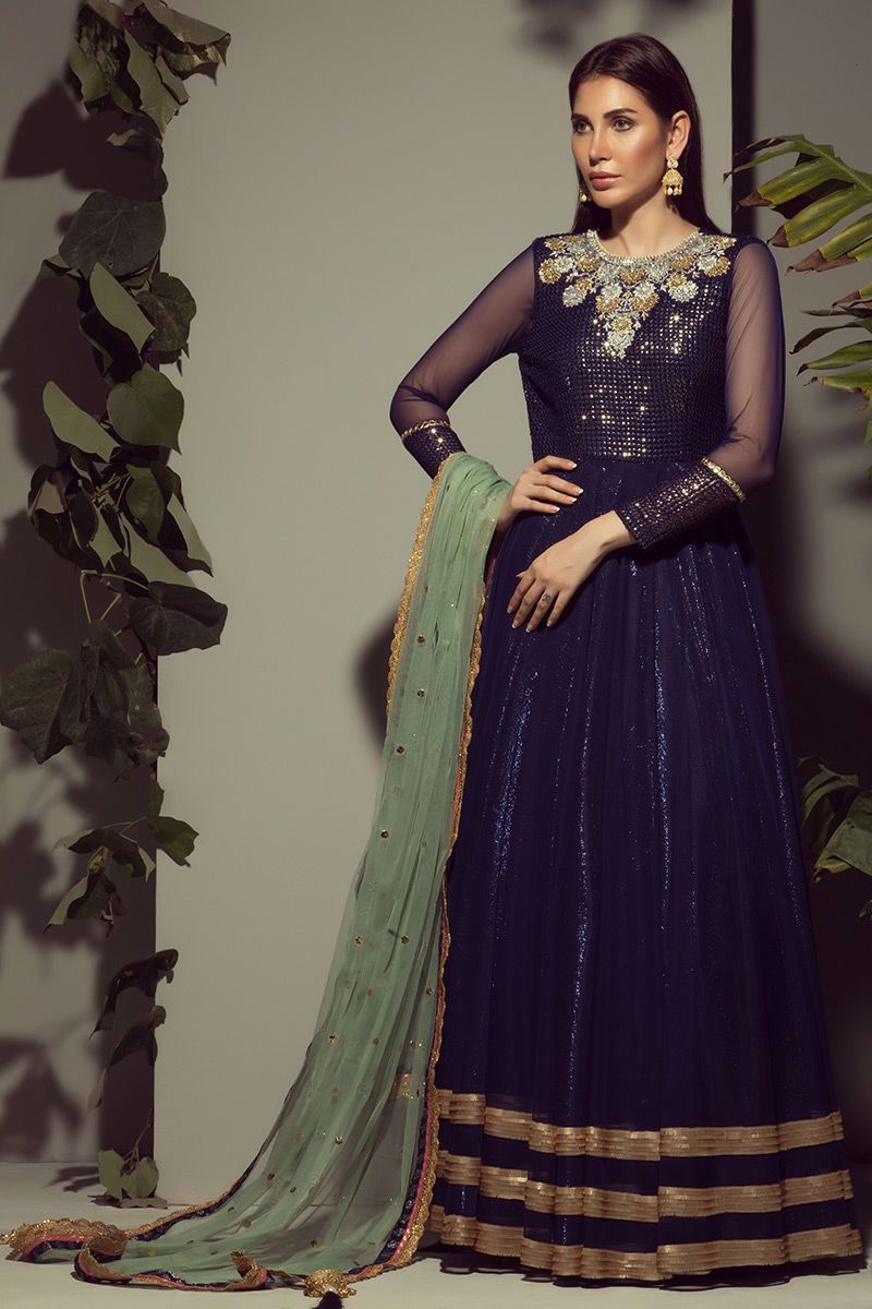 Picture of Blue net gown