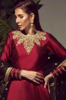 Picture of Maroon silk gown