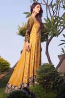 Picture of Embroidered panelled top - yellow