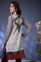 Picture of Embroidered panelled top - pink