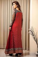 Picture of Embroidered panelled top - red