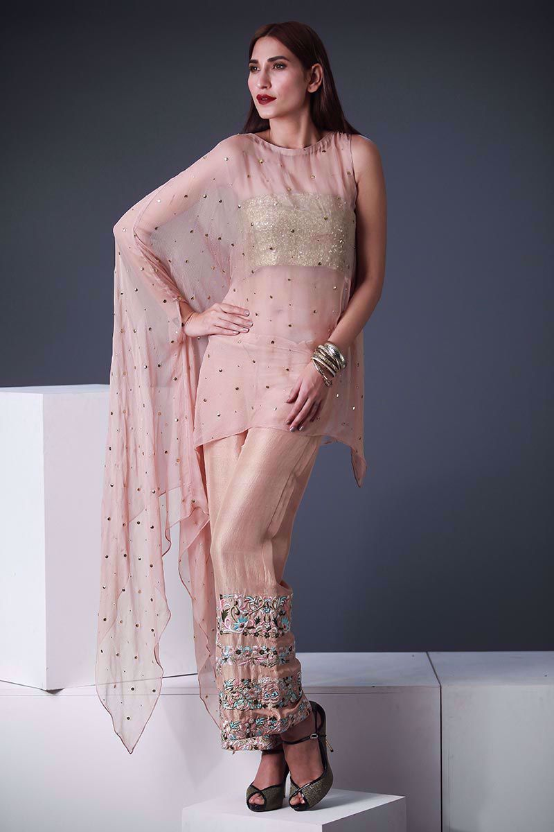 Picture of Nude pink poncho