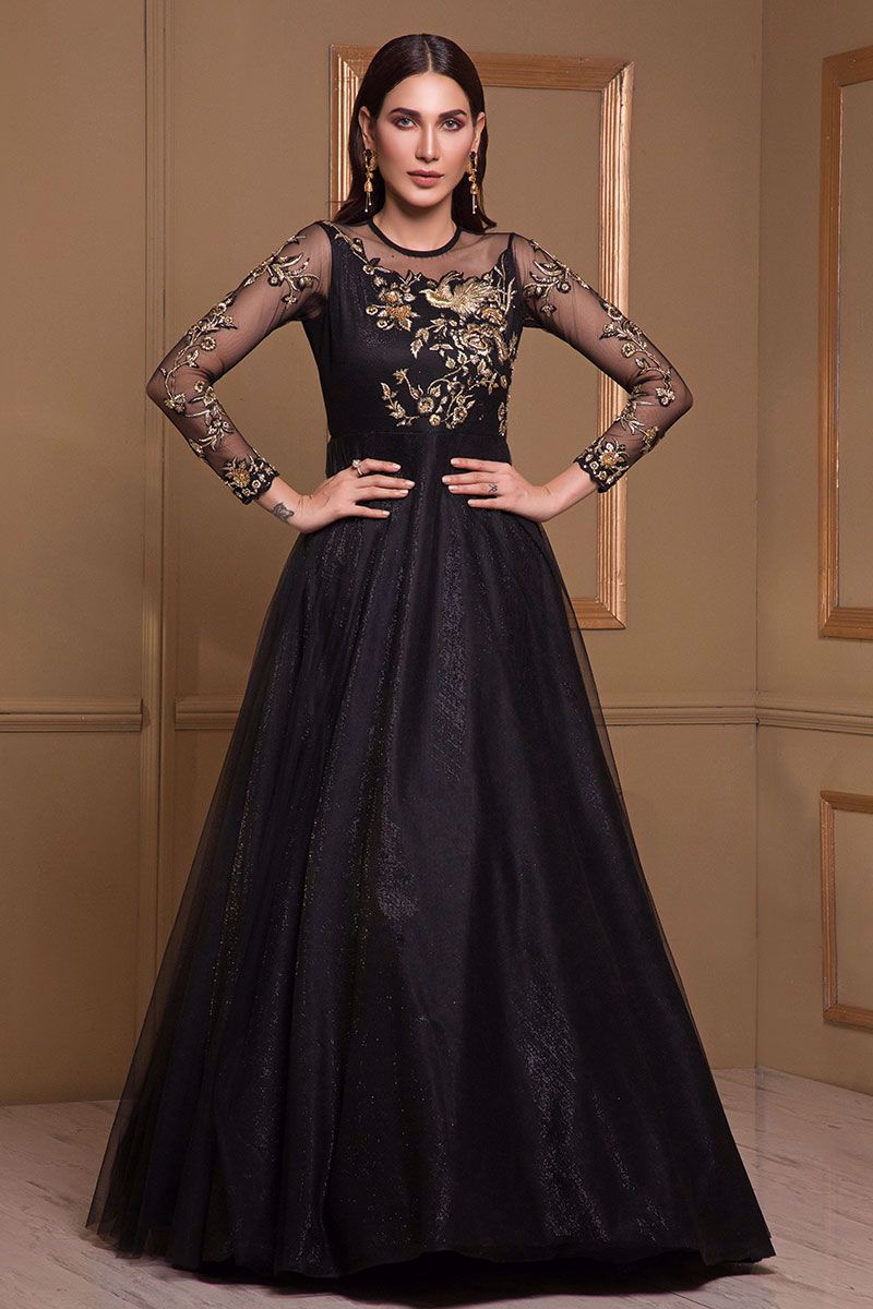 Picture of Black net gown