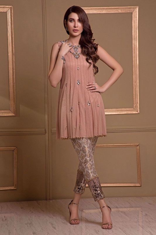 Picture of Blush net peplum
