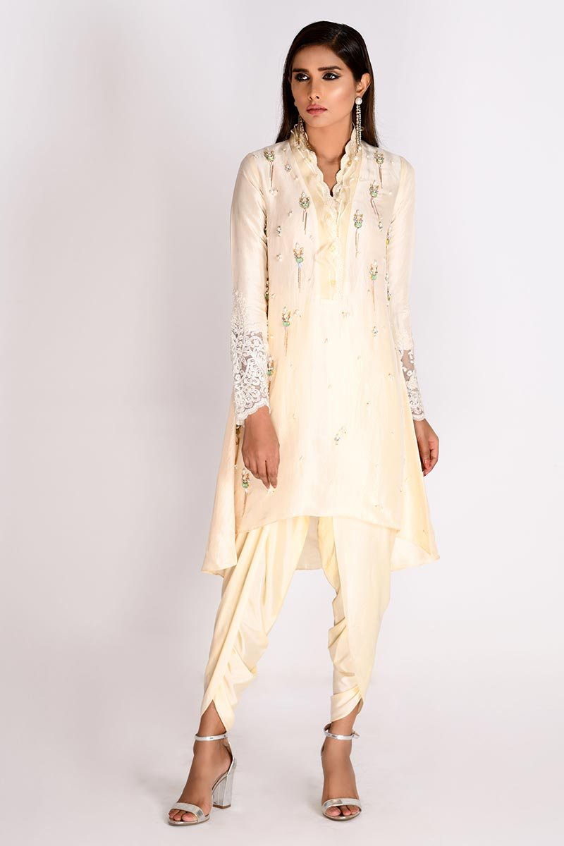 Picture of Ivory Raw Silk Top