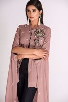 Picture of Georgette Asymmetrical Cape Rose
