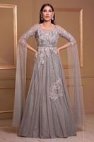 Picture of Grey net gown